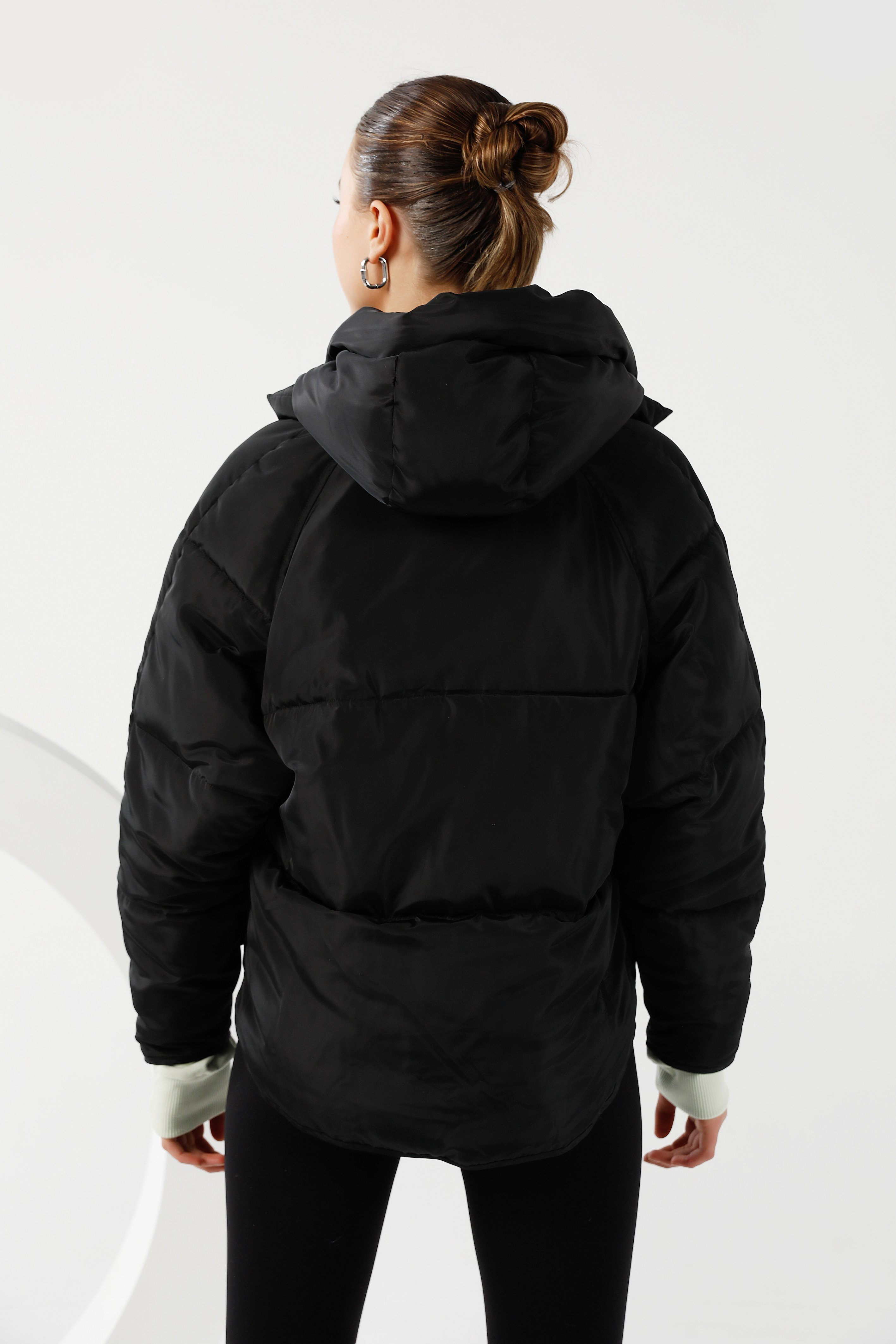 Pluto Puffer Jacket - Black Short Jacket Toast Society