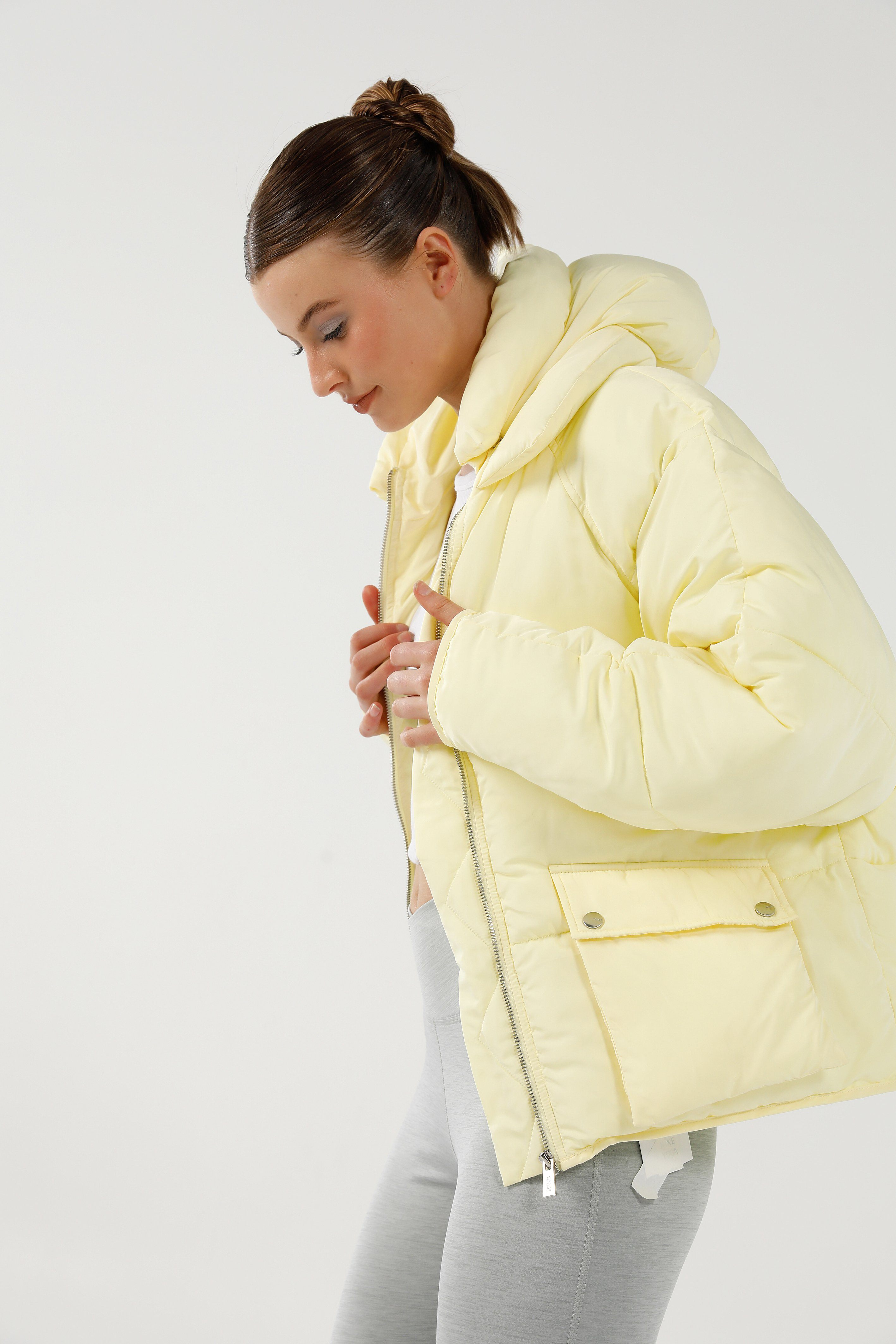 Pluto Puffer Jacket - Yellow Short Jacket Toast Society