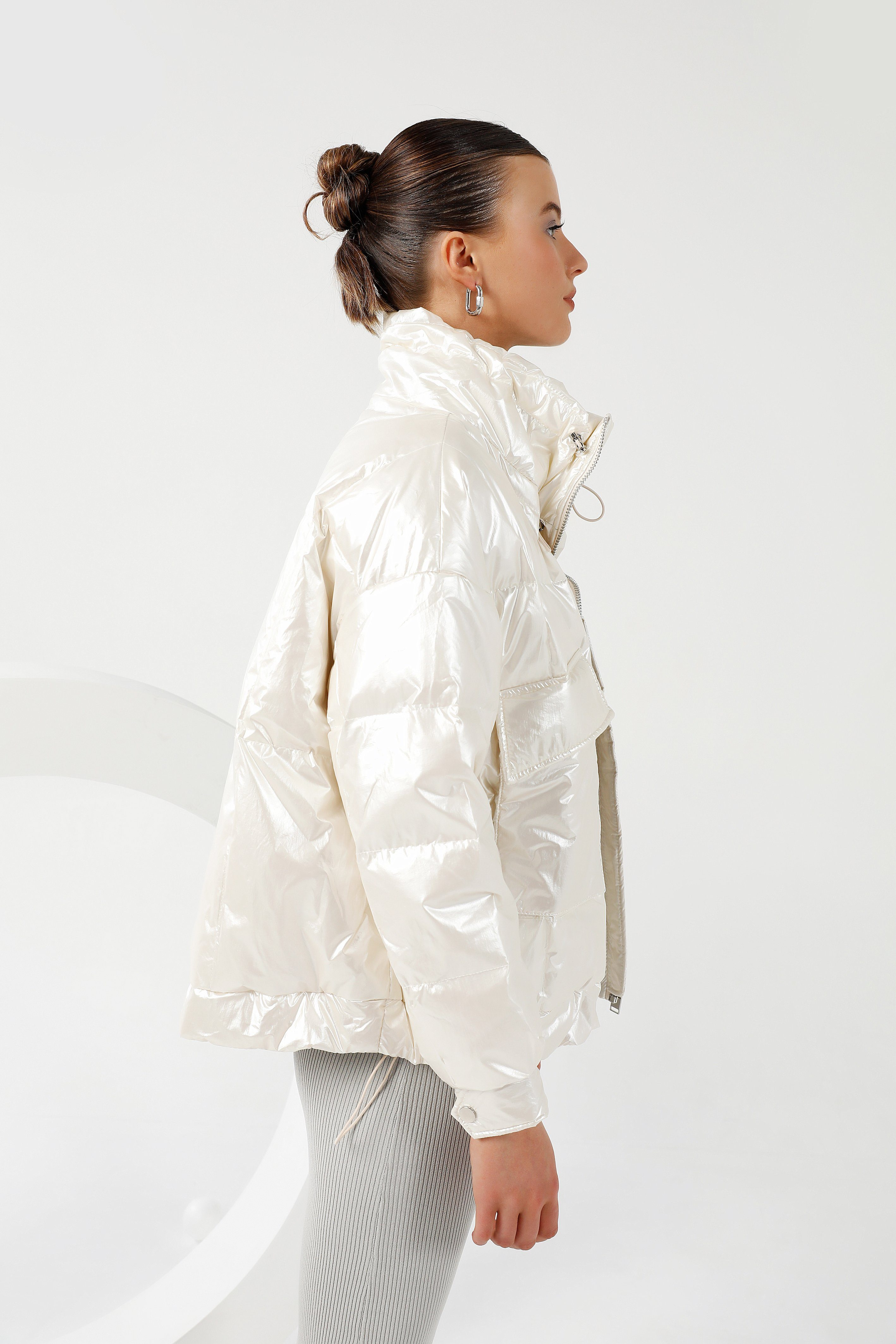 Saturn Puffer Jacket - Pearl White Medium Jacket Toast Society