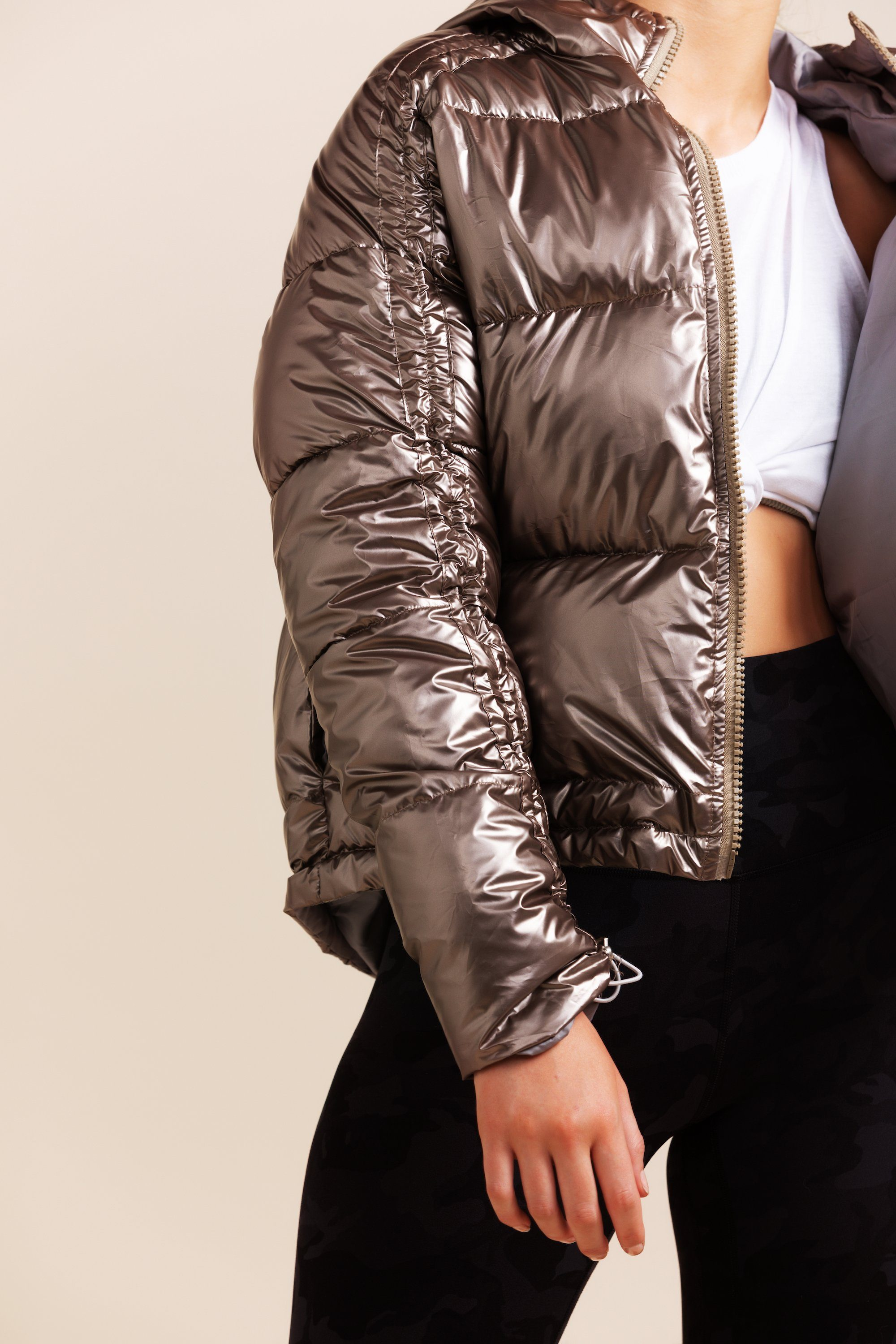 Luna Puffer - Metallic Bronze *SOLD OUT