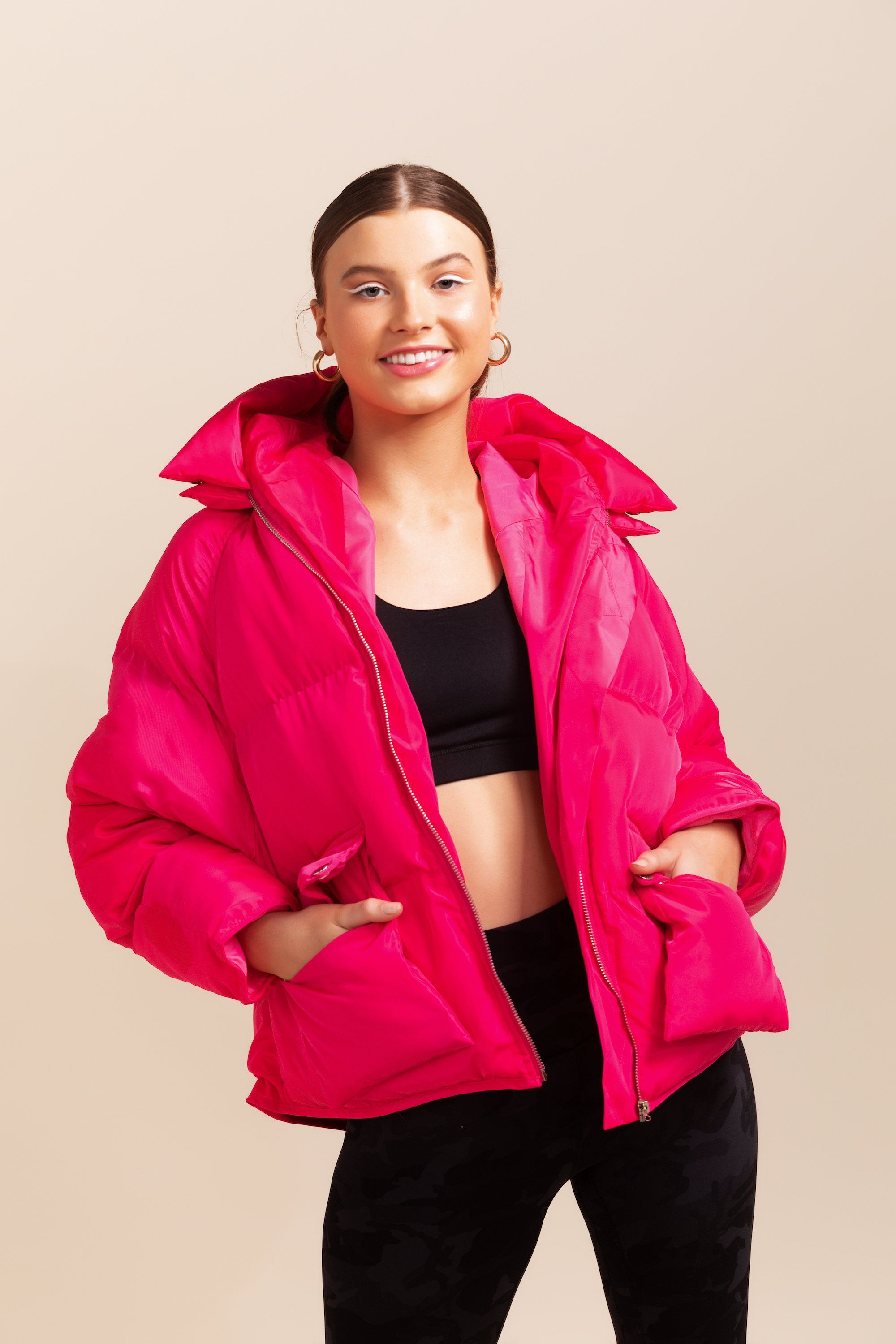 Pluto Puffer Jacket - Hot Pink *IN STOCK