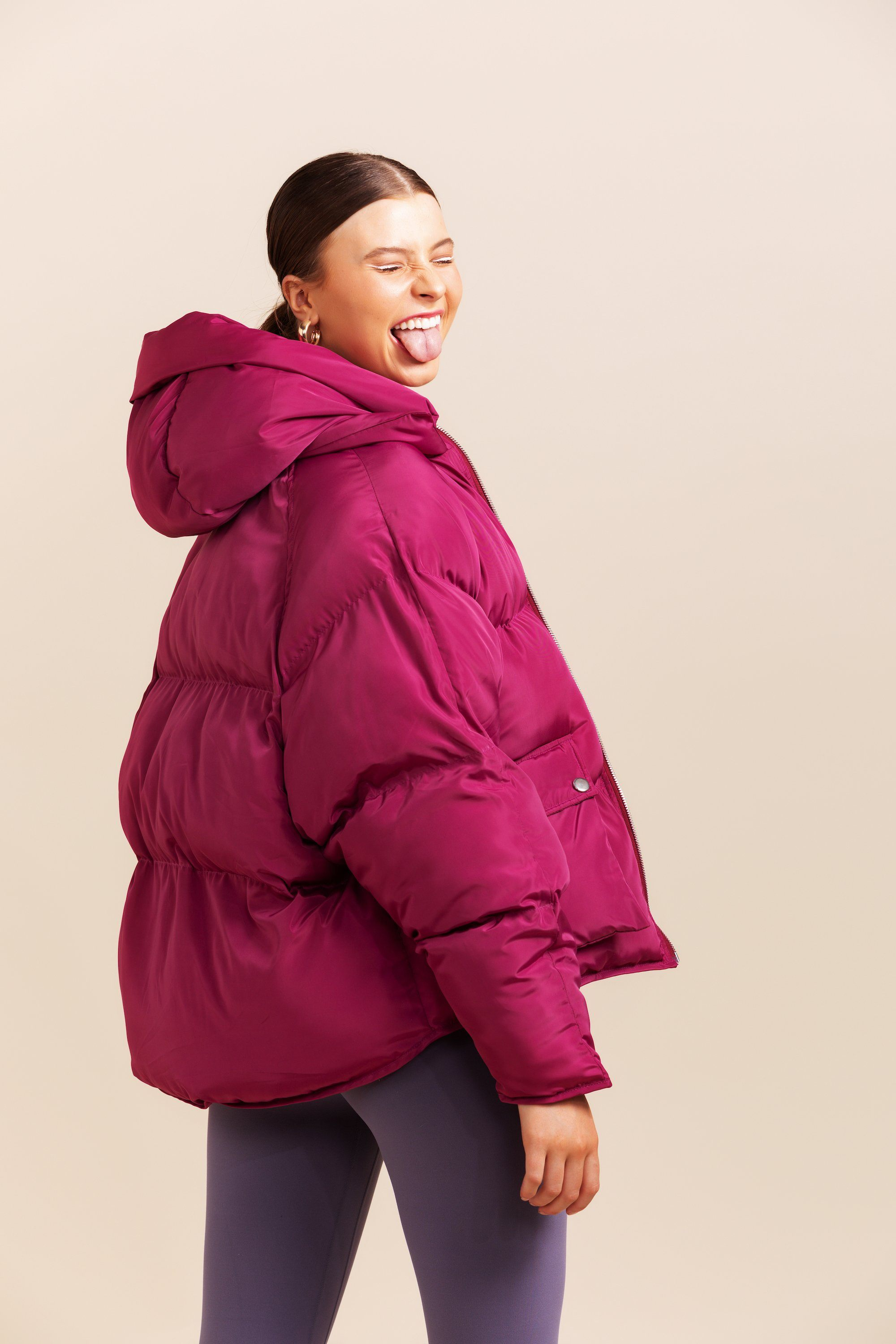 Pluto Puffer Jacket - Berry *Pre-Order
