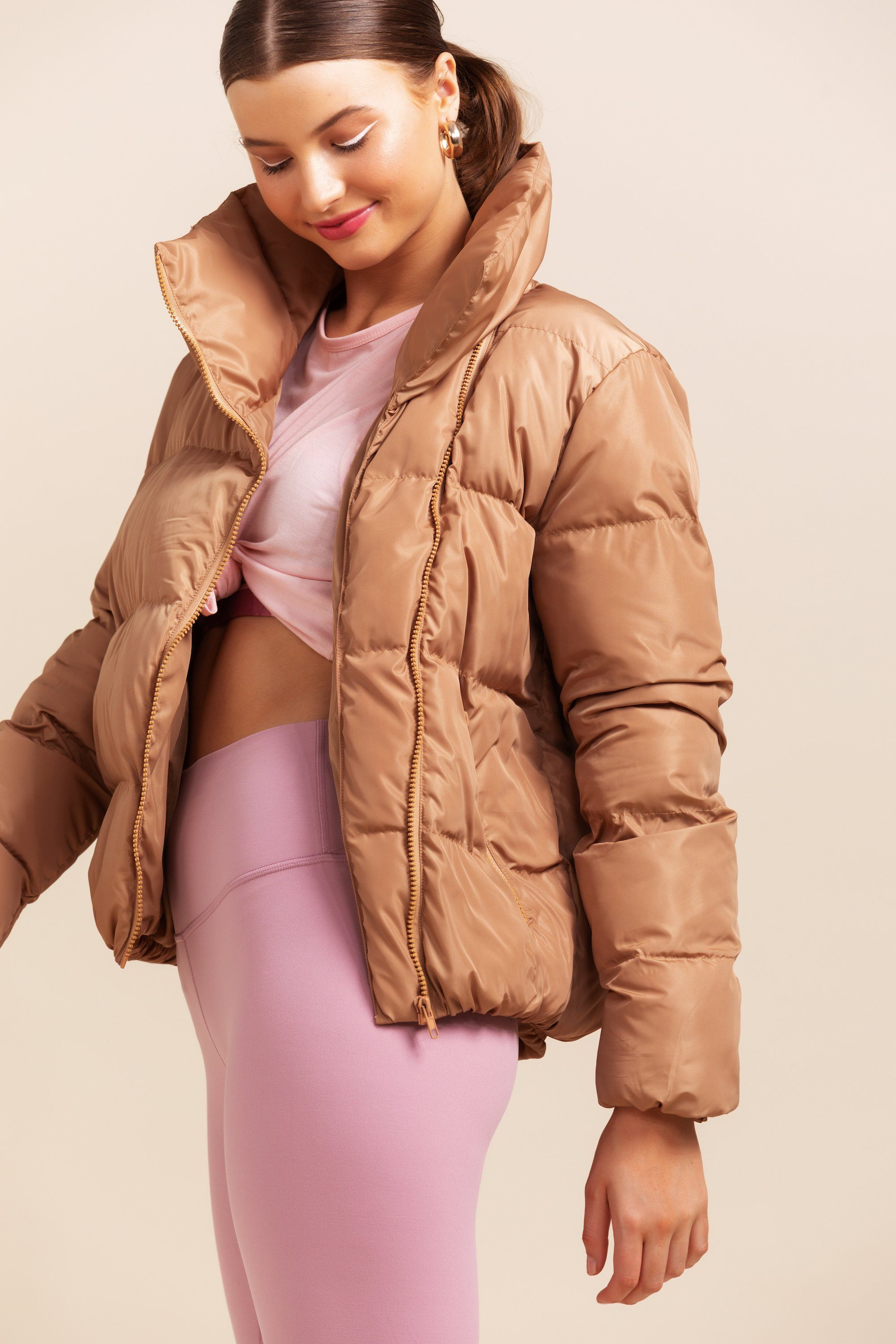 Jupiter Puffer Jacket - Cinnamon  *SOLD OUT