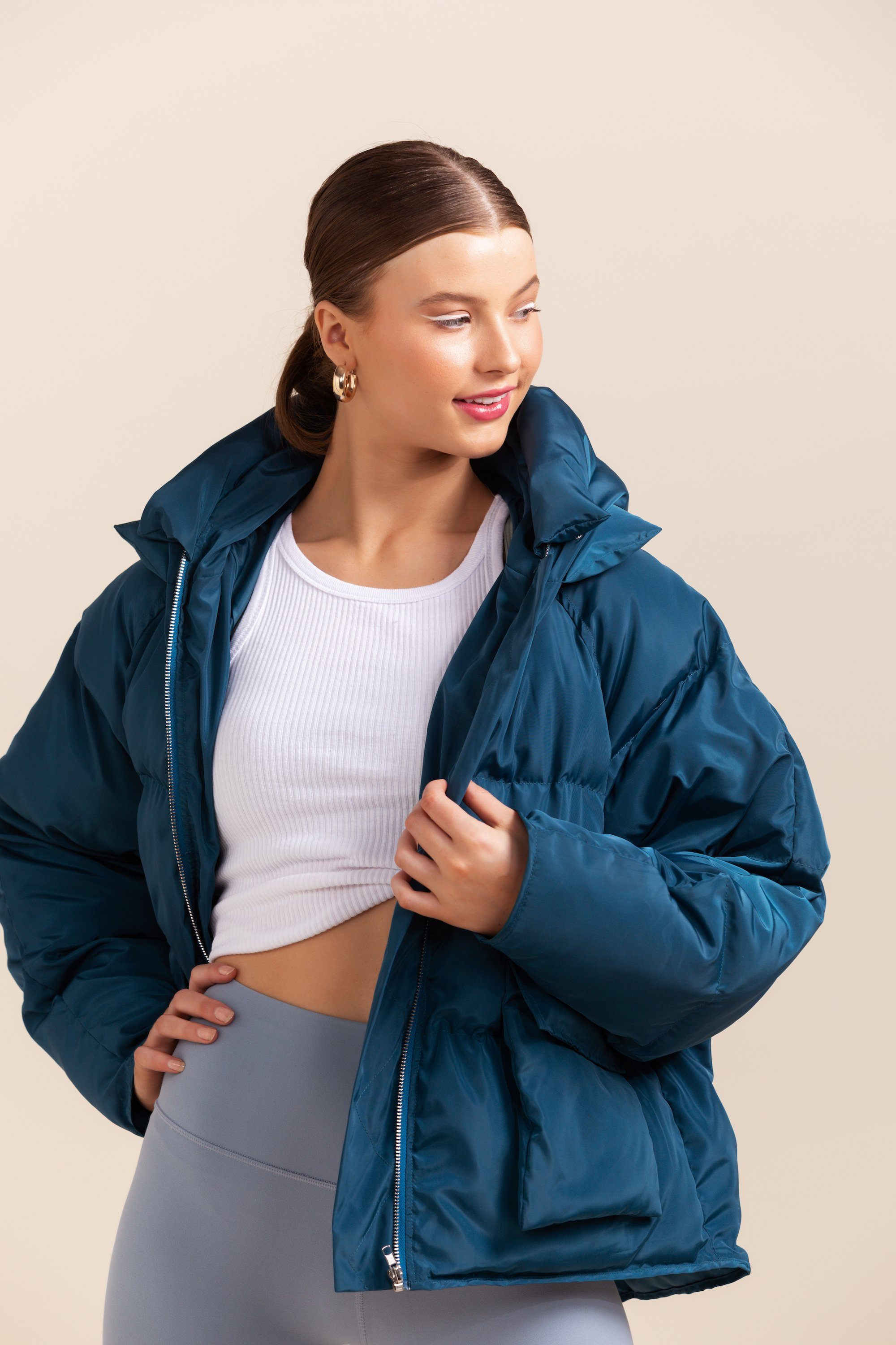 Pluto Puffer Jacket - Teal *IN STOCK