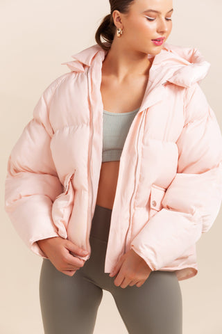 Pluto Puffer Jacket - Coral *IN STOCK