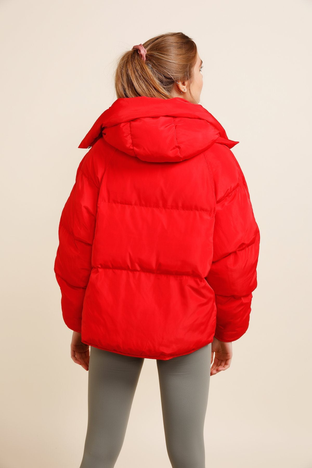 Pluto Puffer Jacket - Red *IN STOCK