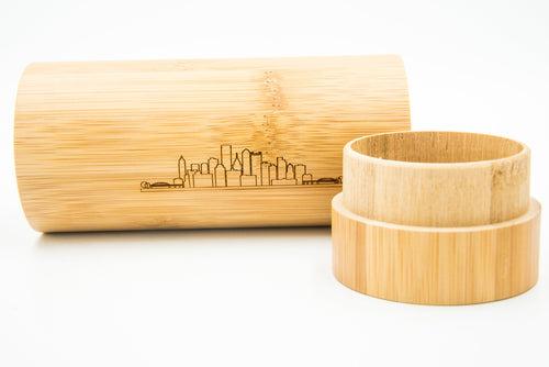 Shades on Point Sunglass Co Bamboo Case Pittsburgh Skyline 2