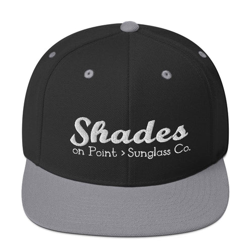The Shades Silver & Black Snapback Hat
