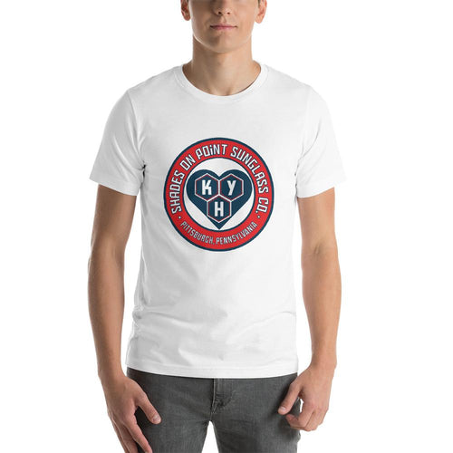 The Shades Kickstart Your Heart Short-Sleeve Unisex T-Shirt (White)