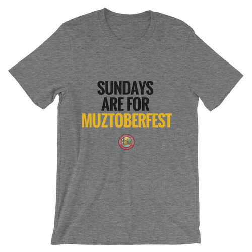 The Shades Sundays Are For Muztoberfest Short-Sleeve Unisex T-Shirt