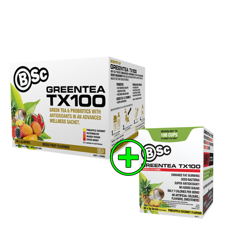 Buy 60 Serve Greentea TX100 get a Free 20 Serve Greentea Tx100