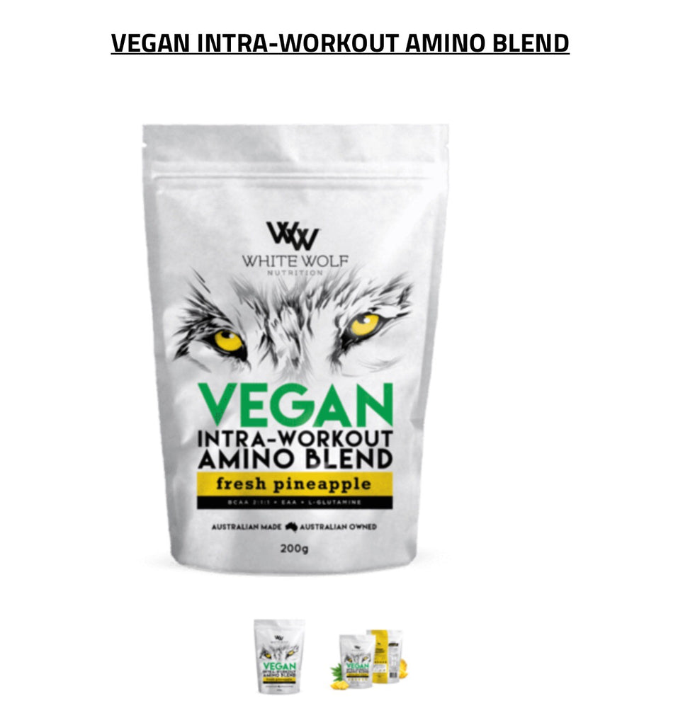 Vegan Intra workout white wolf