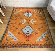 Load image into Gallery viewer, The moon element rug in Orange Ochre
