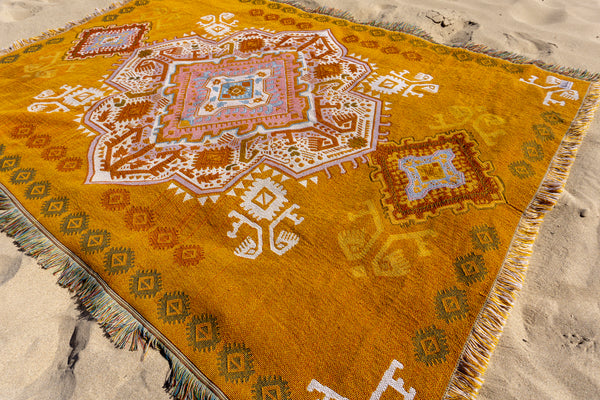 The Zahara Rug in Mustard
