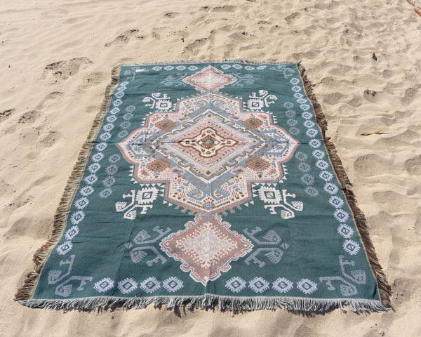 The Zahara Rug in Turquoise
