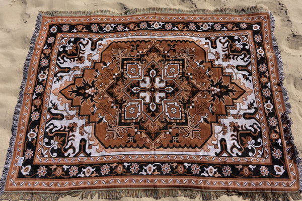 The Jasmine Rug In Black & Orange