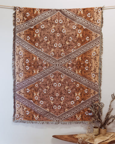 Wildflower rug in Ombre spiced bronze