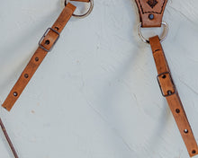 Load image into Gallery viewer, Camera Strap with Turquoise in Medium Tan