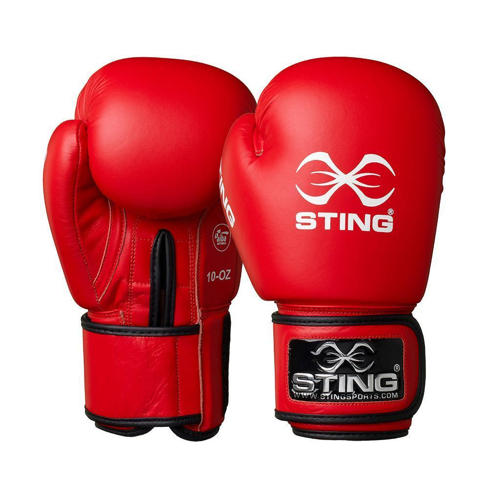 Sting Boxing Gloves AIBA Approved Red 10oz 12oz