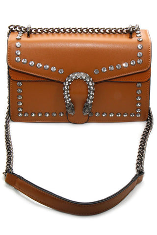 Metal Dragon Pendant Cross Body Bag