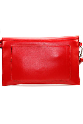 Stone Faux Leather Clutch Bag