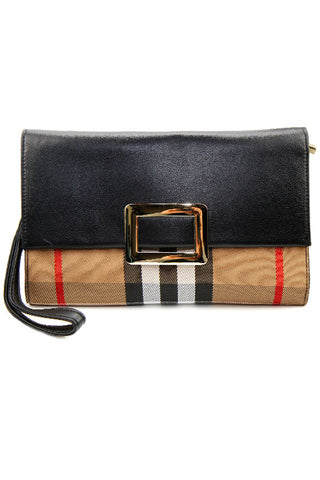 Striped Fashion Clutch Bag