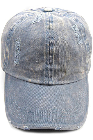 Distressed Pony Tail Cap