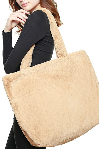 Faux Fur Hand Bag