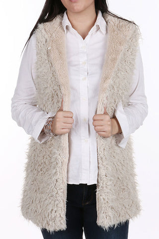 (3PCS) Faux Fur Vest With Hood