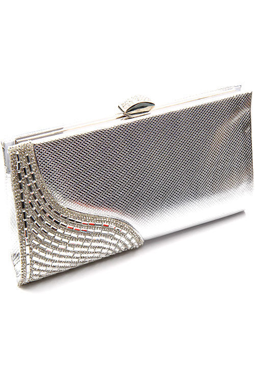 Stone Evening Clasp Kissing Lock Bag