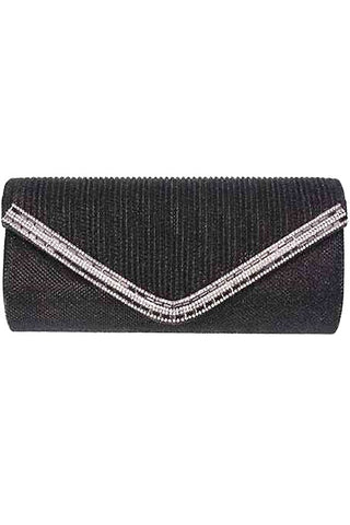 Fabric w Stone Evening Bag