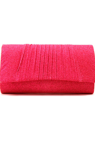 Shimmery Pleated Evening Clutch Bag
