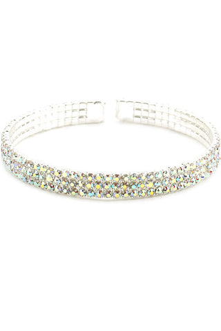 3 Line Rhinestone Bangle Bracelets