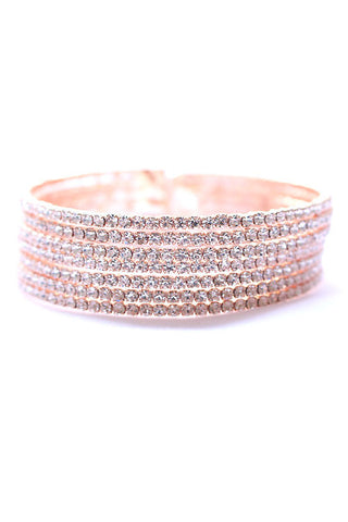 Adjustable Rhinestone Cuff Bracelets
