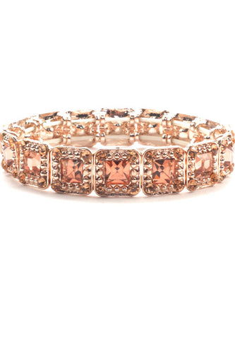 Rhinestone Evening Stretch Bracelet