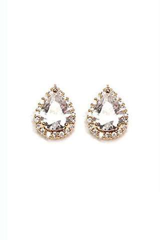 Cubic Clip Earrings