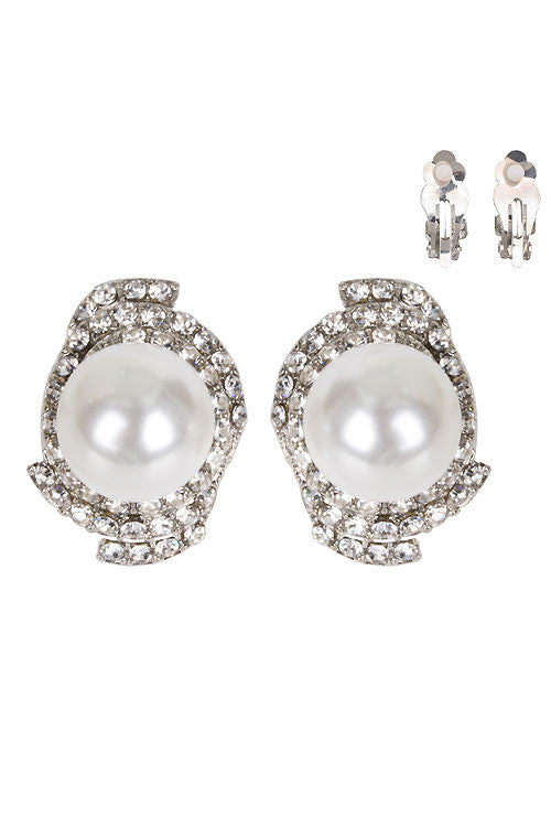 Pearl Clip on Earring