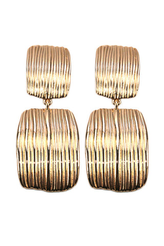 Textured Metal Clip Earring