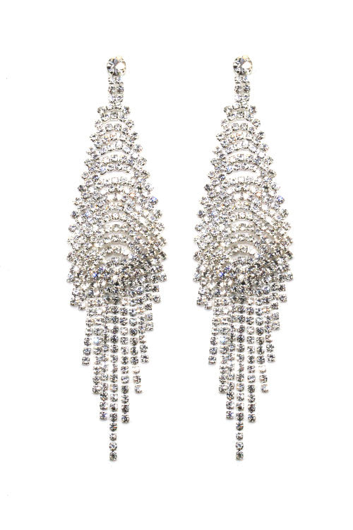 Rhinestone Post Evening Earrings