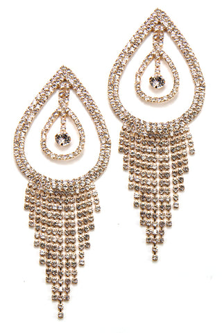 Rhinestone Drop Post Earrings