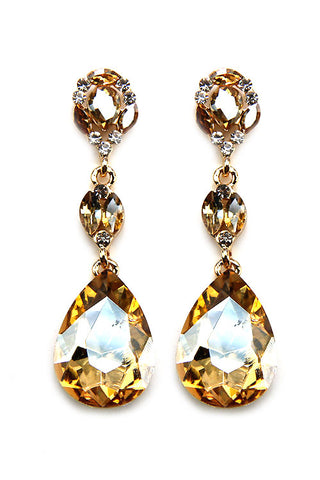 Rhinestone Water Drop Post Earring