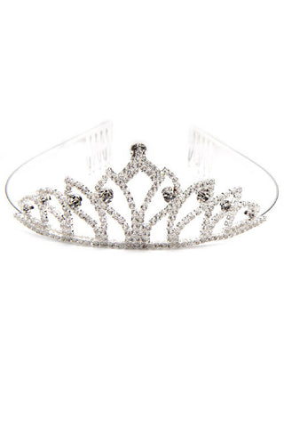 (6PCS) Rhinestone Metal Crown