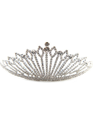 (6PCS) Rhinestone Crown