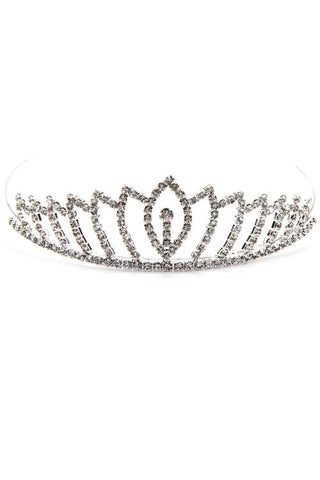 (2PCS) Rhinestone Crown