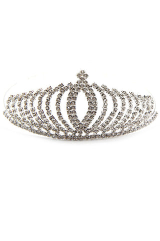 (4PCS) Rhinestone Crown