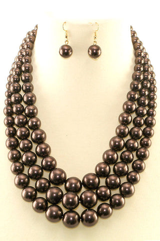 (9PCS) Pearl Necklace Set