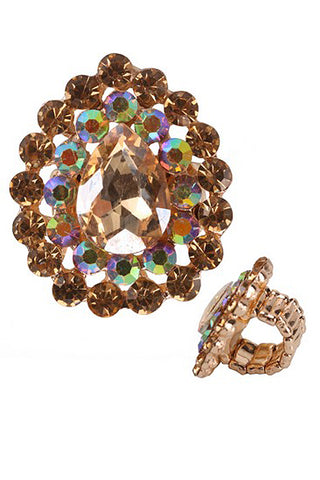 (6PCS) Stone Stretch Ring