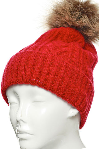 (3PCS) PATTERNED KNIT BEANIE