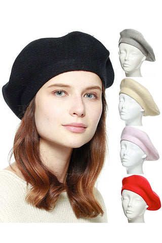(3PCS) STRETCHY KNITTED BERET