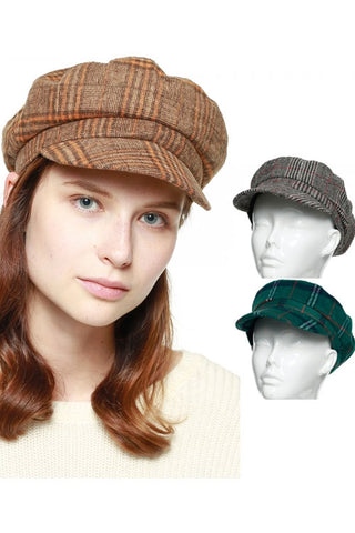 GLEN PLAID CABBY HAT